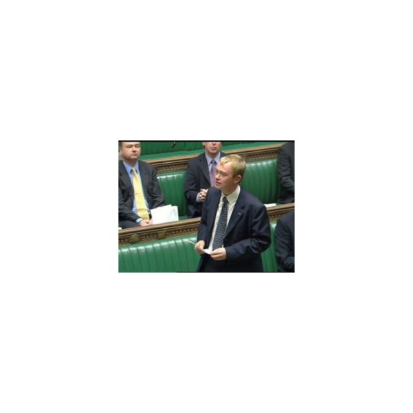 Tim speaking in Parliament
