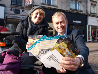 MP Tim Farron has launched a postcard which will allow local residents to tell NHS bosses their personal stories and help back the campaign to bring radiotherapy services to Westmorland General.