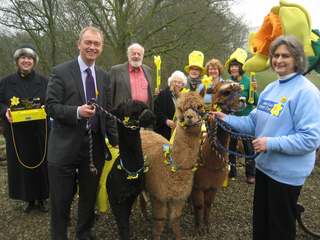 Tim attends the launch Marie Curie Cancer Care's Great Daffodil Appeal