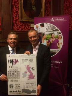 Tim at the radiotherapy reception in Parliament
