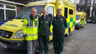 Tim with the North West ambulance team