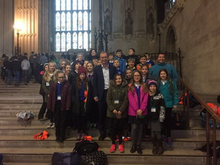 St Mary's School students in Parliament