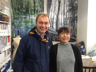 Tim with Tomoko Alderson who runs Forest Fabric, based at The Factory