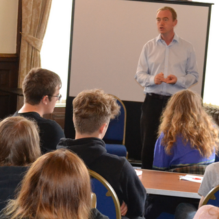 Tim Farron MP meets Youth Volunteers at Kendal Town Hall