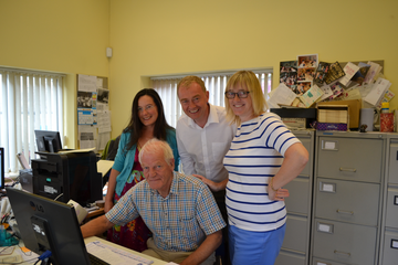 Tim with his casework team
