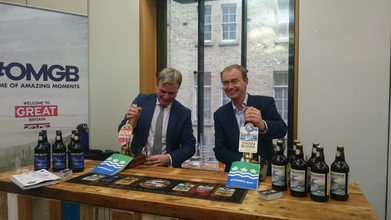 Tim Farron MP and Jamie Reed MP pulling pints