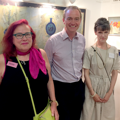 Tim with Rosie Wates and Tina Balmer at Artsfest North