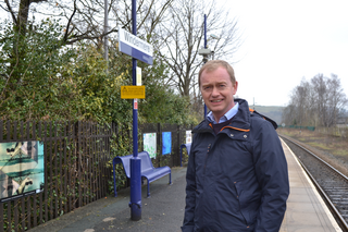 Tim at Windermere station