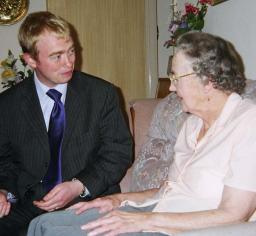 Tim with older person