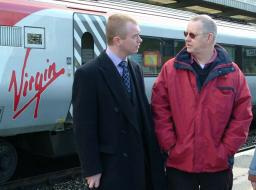 Tim Farron MP & Cllr Andy Shine at Oxenholme Station