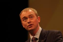 Tim speaking at the rally in Birmingham