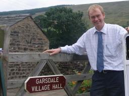 Tim at Garsdale Village Hall