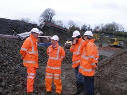 Tim at the site of the Grayrigg rail crash in February 2007