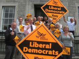 Tim Farron MP and local councillors celebrate elections victory