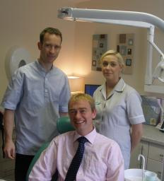 Tim Farron MP at the opening of the Mint Dental Practice in Ambleside
