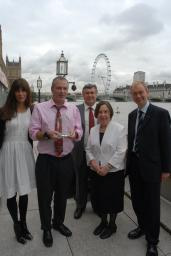 Tim Farron with his constituent Bob Whittall who was presented with an Animal Action award