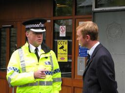 Tim with Cumbria Police