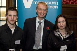 Tim with Micheal Machell and Marie Lynchey from v-involved Cumbria