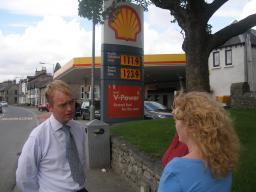 TF at petrol station