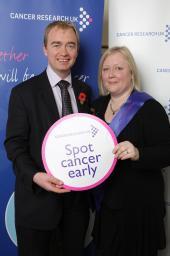 Tim Farron MP with Philippa Davies of Burton in Kendal