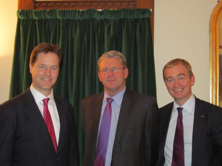 Tim, Nick Clegg and NFU President Peter Kendall