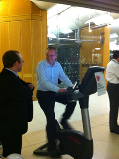 """South Lakes MP Tim Farron has taken part in a sponsored """"24-hour static cycle"""" event in Parliament, to show support and raise funds for the Poppy Factory, a charity who help ex-service personnel find new employment after leaving the Armed Forces."""