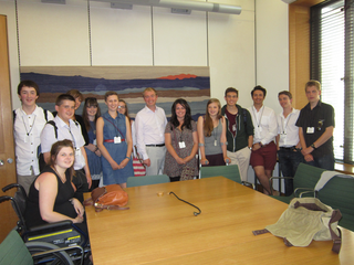 South Lakes MP, Tim Farron, welcomed his local youth council to Parliament last week in London.