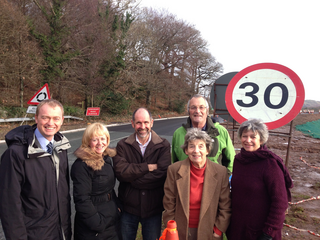 South Lakes MP Tim Farron has been to the site of the Greenodd roundabout to see the progress of the work.