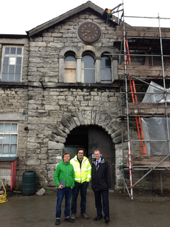 Yesterday local MP Tim Farron visited the Yarn Rooms on Aynam Road to see the ongoing work to create an arts space in Kendal.