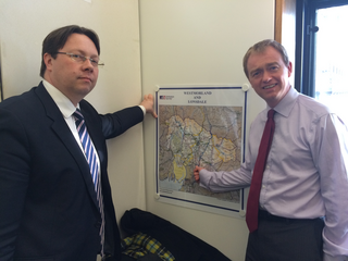 South Lakes MP Tim Farron met with Floods Minister Dan Rogerson MP to press the case for local flood defence schemes in South Lakeland.
