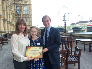 South Lakes MP Tim Farron this week welcomed Kendal Nether ward councillor Clare Feeney-Johnson to Westminster, as she collected an award for being a 'Heat Hero'.