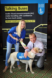 South Lakes MP showed his support for a campaign led by the charity Guide Dogs to make travelling by bus easier for people with sight loss.