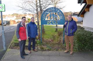 Councillors Doug Rathbone, Jonathan Brook and Chris Hogg