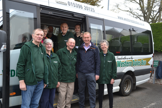 Tim and the Western Dales Bus team