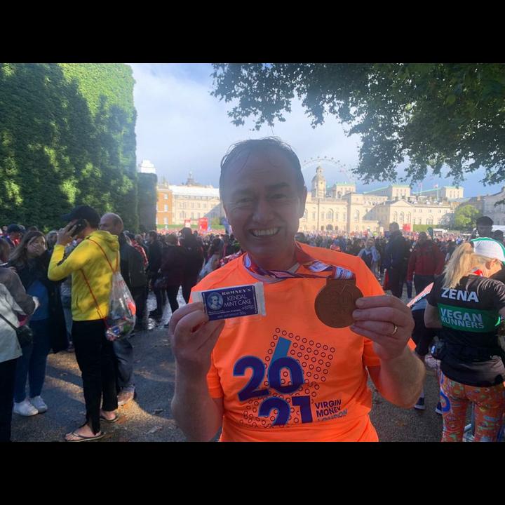 Tim post-London Marathon